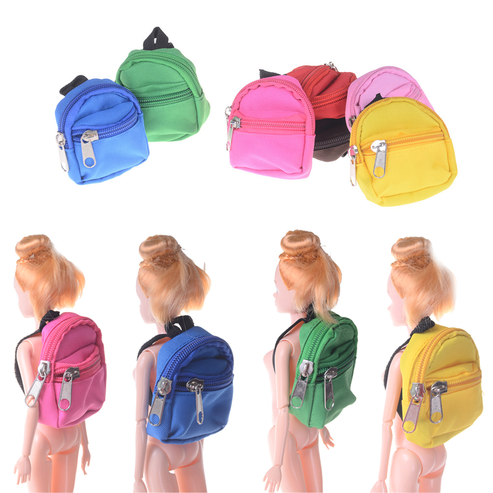 High Quality 1PCS Mini Dolls Backpack For Barbie Doll For BJD 1/6 blyth doll Bag Accessories Best Gifts цена