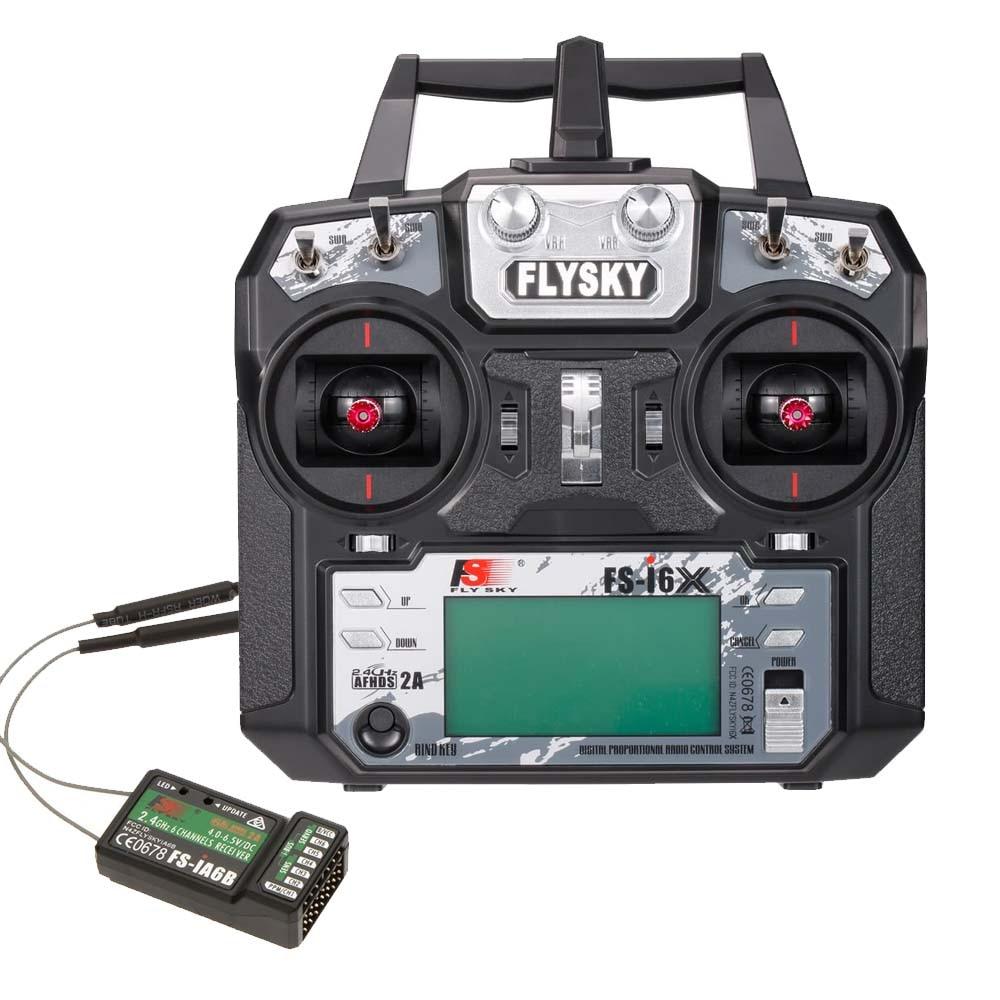 Flysky FS i6X 2 4GHz 6CH AFHDS 2A RC Transmitter with FS iA6B Receiver FS I6X