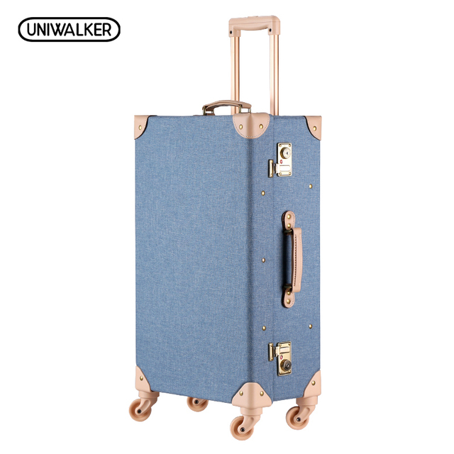 "20"" -26"" Vintage Travel Trolley Luggage Suitcase With Combination Lock Rolling Luggage Suitcases With Spinner Wheels"