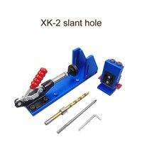 Oblíqua pro-bolso buraco gabarito broca guia marcenaria kit de ferramentas para trabalhar madeira + broca de madeira XK-2 slant-hole brocas ferramenta de mão