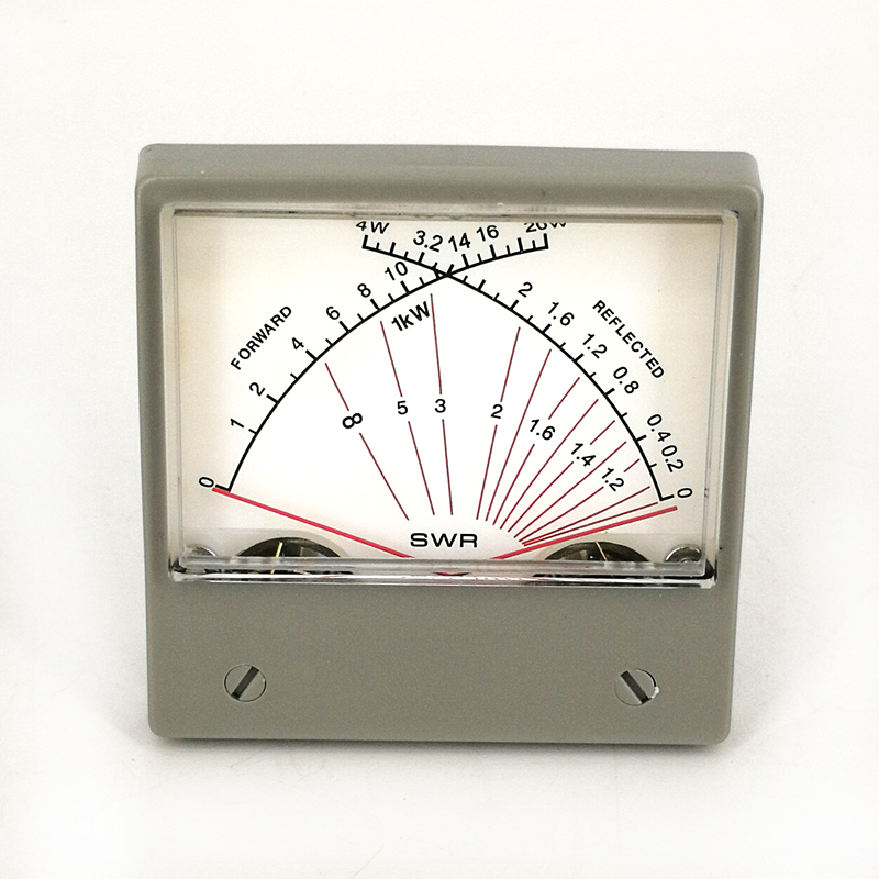 Panel VU/Forwad 100uA Meter SWR SZ-70-1 4W 20W Dual Meter Tercermin