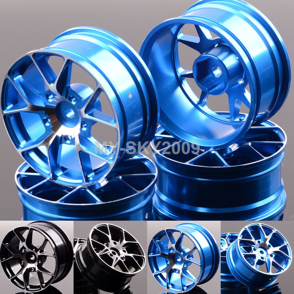 4pcs 5Y Alloy Wheel Rims 1057 For 1:10 RC On-Road Drift Car Sakura HPI Tamiya Redcat HSP Racing 4pcs aluminium alloy wheel hub tire wheels for rc on road car fit for 1 10 hsp tamiya kyosho on road car model