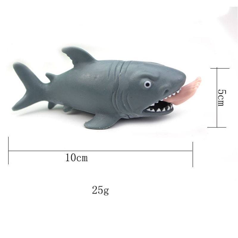 HOT SALE Creative Funny Toy Squeeze Stress Ball Alternative Humorous Shark Eat Human Leg Squeeze Pressure Relieve Decompression