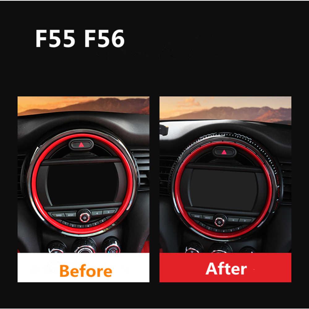 Pour MINI Cooper F55 F56 JCW 2019 2018 2014-2017 8.8 pouces Console centrale Écran Cadre Décoratif Autocollants Intérieurs 6.5 pouces