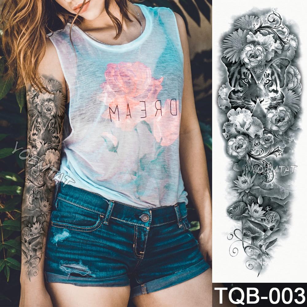 Waterdichte tijdelijke tattoo Sticker Schedel Angel rose lotus - Tatoeage en lichaamskunst - Foto 4