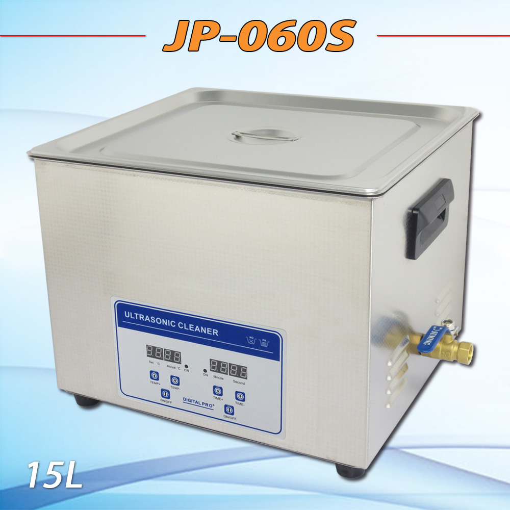 New Ultrasonic cleaning machine JP-060S 15L 360W medical instrument Ultrasonic cleaner cleaning machine 1pc 110v 220v ps 60al 360w ultrasonic cleaner 15l cleaning equipment stainless steel cleaning machine