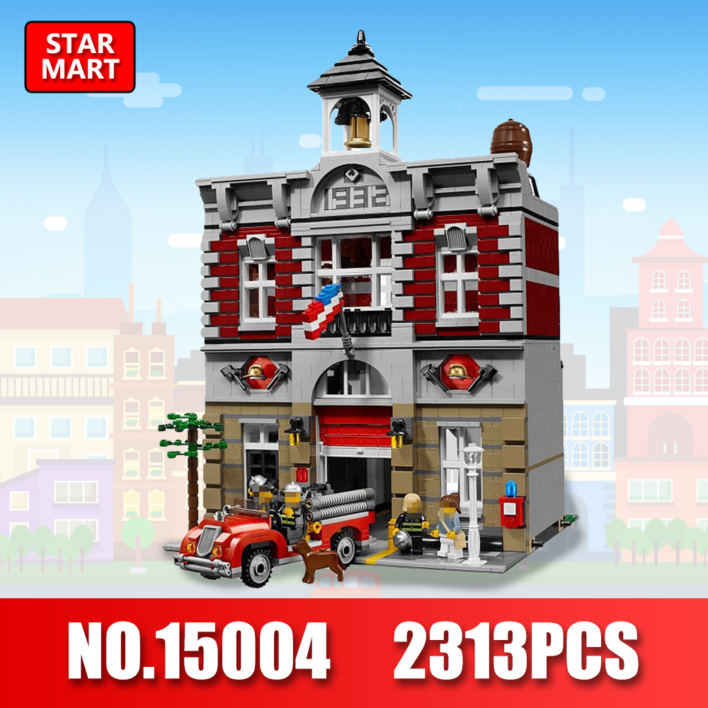 LEPIN 15004 2313Pcs Legoing City Creator Fire Brigade Model Blocks Building Blocks Bricks Toys for Children LegoINGe 10197