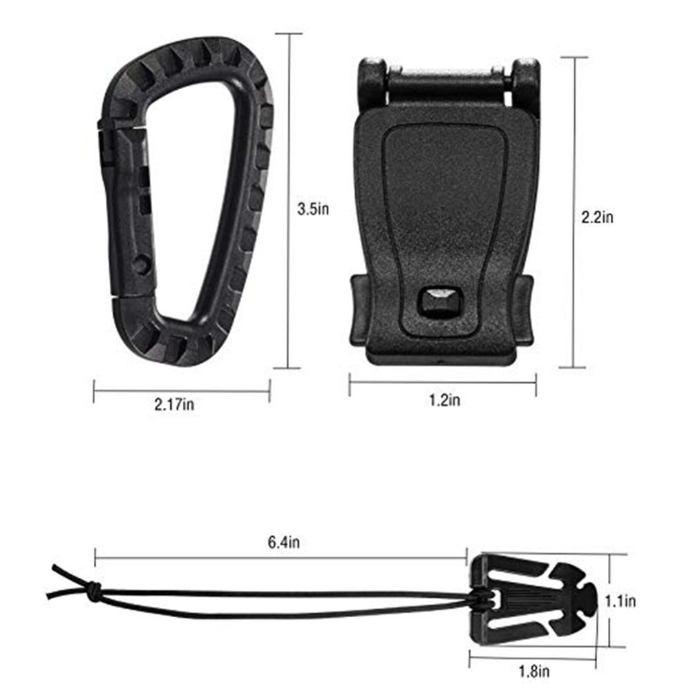 30pcs/set Backpack Ribbon Accessories (tactical) Gear Webbing Connecting Buckles Ribbon Clip D Ring Hooks Carabiner Zipper Bag To Assure Years Of Trouble-Free Service