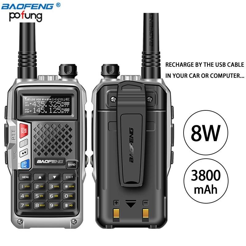 2 pcs BaoFeng UV-B3 Plus Talkie Walkie Puissant CB Émetteur-Récepteur Radio 8 w 10 km Longue Portée De Poche Radio uv5r pour hinking voyage