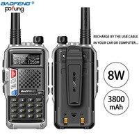 2PCS BaoFeng UV B3 Plus Walkie Talkie Powerful CB Radio Transceiver 8W 10km Long Range Handheld Radio uv5r for hinking travel