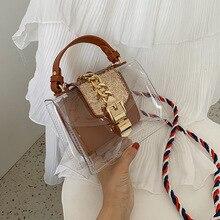 Clear Transparent PVC Shoulder Bags Women Candy Color Flap Bag Purse Solid Color Handbags Small Crossbody Bag Female sac a main cумка daiwa ob flap bag a olive 7042