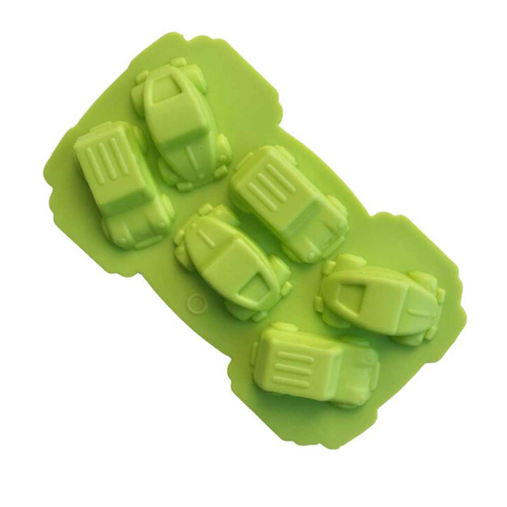 الكرتون سيارة قالب من السيليكون فندان كعكة الديكور 1 قطعة قالب الخبز الحلوى الكوكيز الشوكولاته الصابون الخبز أدوات قولبة