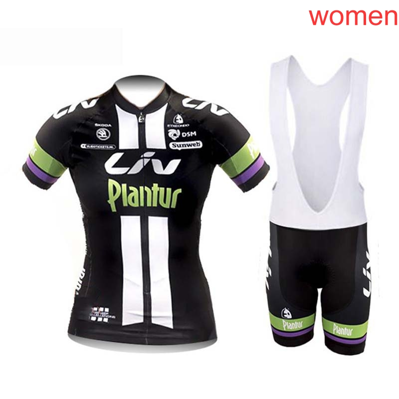 2019 LIV verano ciclismo Jersey conjunto transpirable MTB bicicleta ciclismo ropa entrega gratuita U62501|Conjuntos de ciclismo|   -