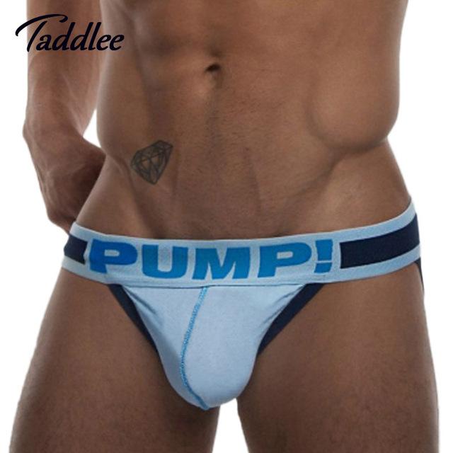 Sexy Mens Underwear Briefs Bikini Cotton Men Jockstraps Low Waist Backless Buttocks