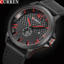 Top Luxury Brand CURREN Men Sports Watches Men's Quartz Date Clock Man Leather Army Military Wrist Watch Relogio Masculino