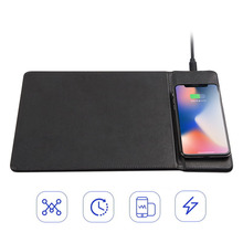 Creative Mobile Phone Wireless rechargeable Desk Mouse Pad  Car Charger With Stand For iPhone