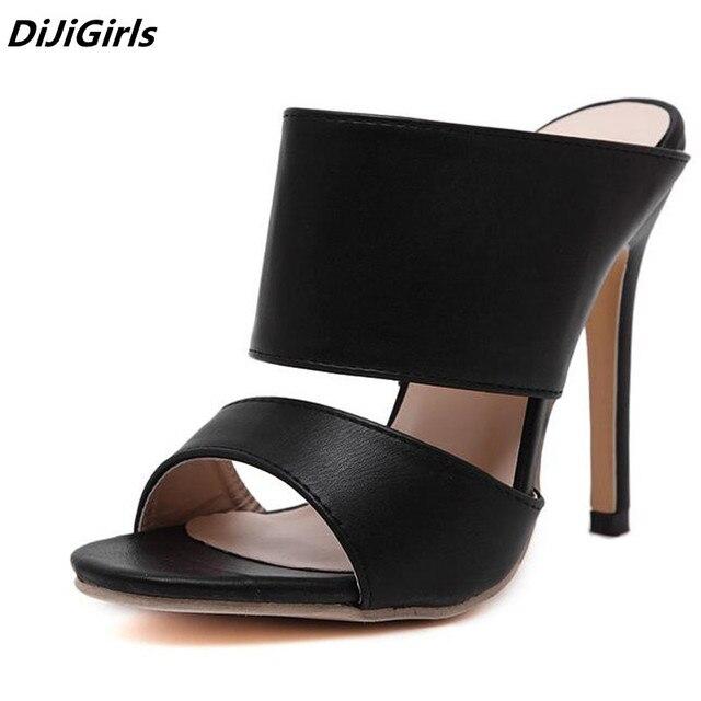 2018 Newest HOT women open toe High heels pumps black roman ...