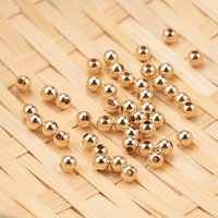 Оптовая продажа 50 шт 2-4 мм 14 K золотые бусины круглое отполированное украшение бусины для браслета и ожерелья Изготовление 14 K золотых ювелир...