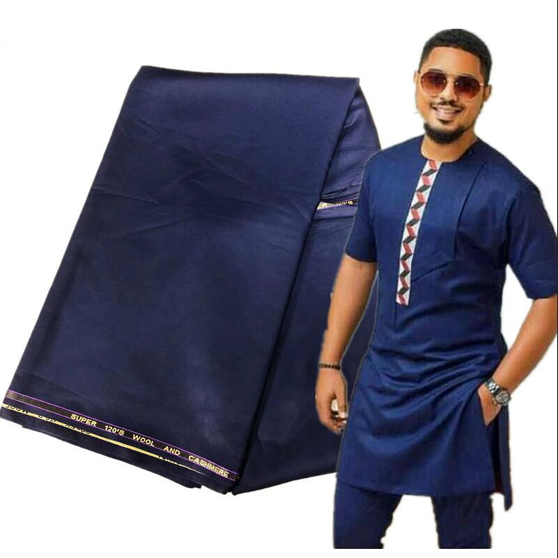 5Yards TR Material For Men Cloth African Men African Agbada Soft TR Fabric with High Quality Men Material for Man Garment AK5