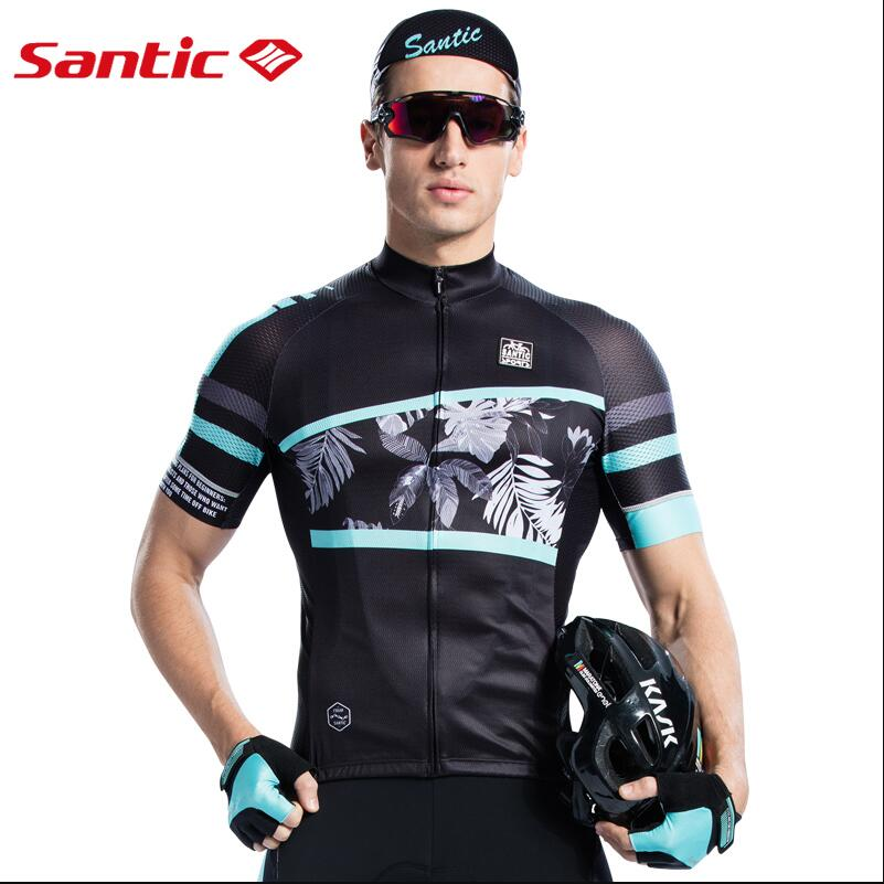 New Santic Mens Spring Summer Cycling Jersey Breathable Quick Dry MTB Road Bike Shirts Short Sleeve Anti-Sweat Bicycle Clothing santic short cycliste homme anti sweat and quick dry mtb shorts cuissard velo homme pro gel troy lee designs short vtt c05018