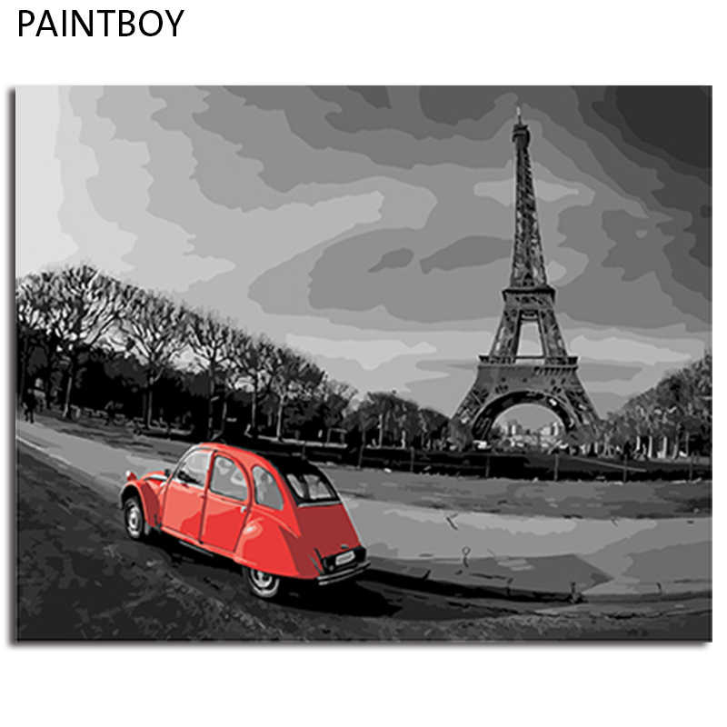 PAINTBOY DIY Painting By Numbers Landscape Framed Picture Painting On Canvas Oil Painting Home Decor Wall Art