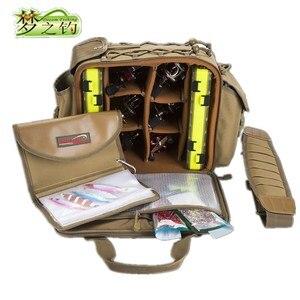 Image 1 - Dream Fishing Multifunctional Fishing Bag 47*29*21cm Large Capacity  Fishing Reel Bag 1200D Waterproof Nylon Tackle Bagpack