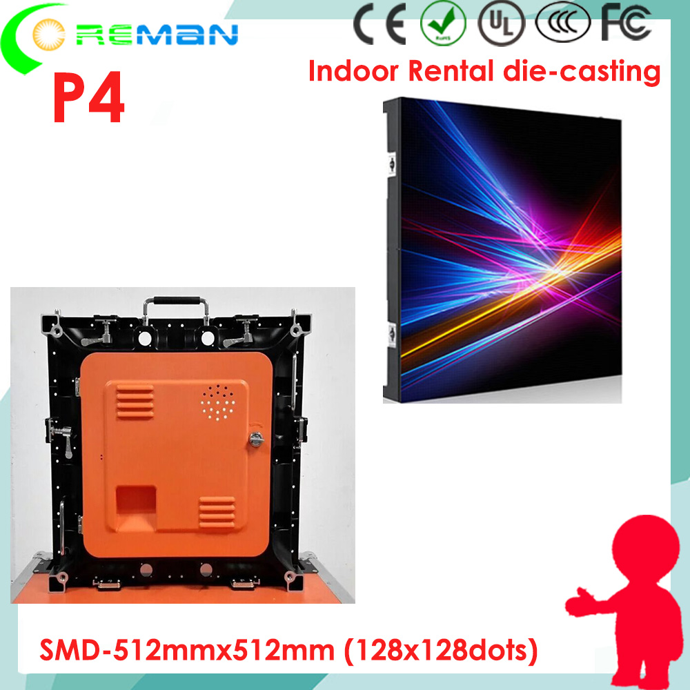 Discount p4 high birghtness high refresh rate led video panel empty cabinet empty led frame