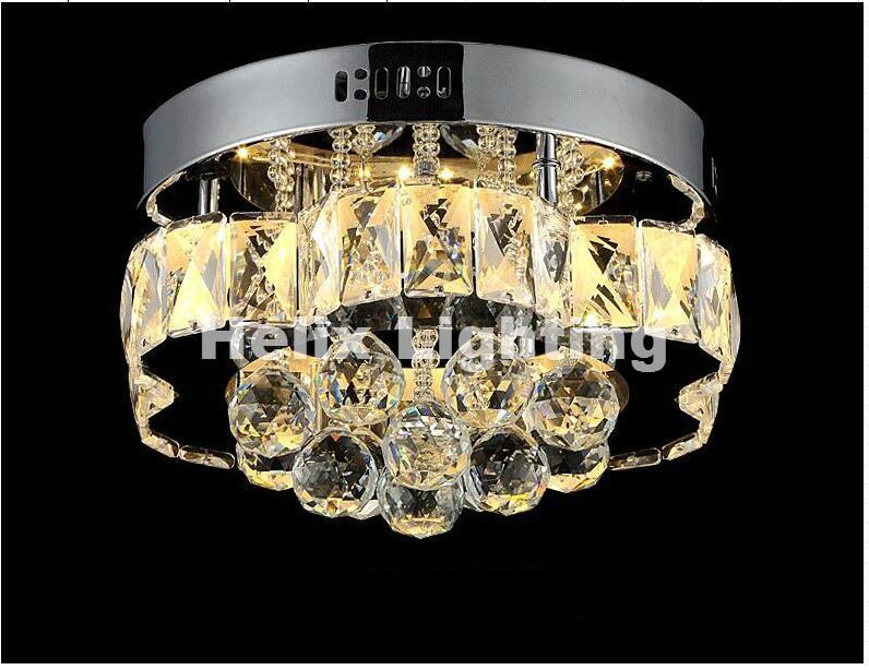 Free Shipping Art decration 90 265V Modern Hot Sale Floral Style Design LED Crystal Ceiling Lamp Luster Remote LED Crystal Light