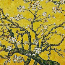 Handmade Van Gogh Oil Painting Hang Picture Modern Wall Paintings On Canvas Yellow Pictures For Decor Plum Blossom