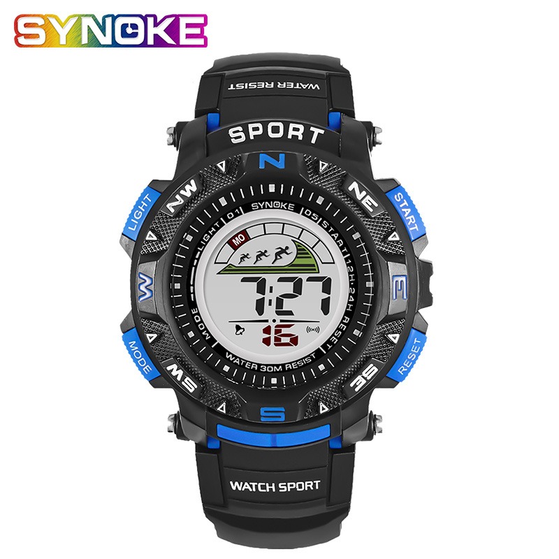 SYNOKE Children Girs Watch Digital Boys Watches Kids Water-resistant Children's Watch High Quality Sports Strap