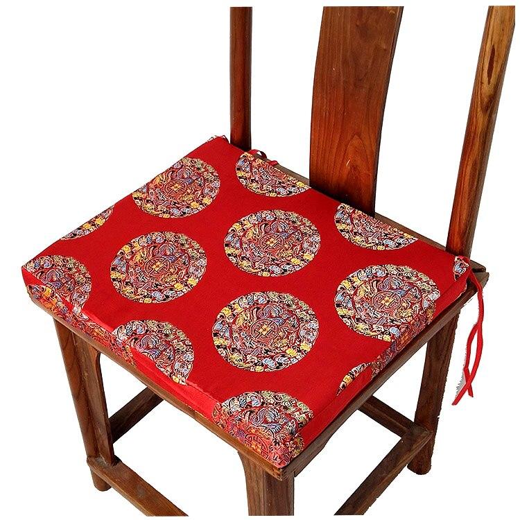 Seating Mini Gravita Armchair In Oriental Garden Fabric: Luxury Vintage Chinese Silk Cushions Dining Chair Mat Seat