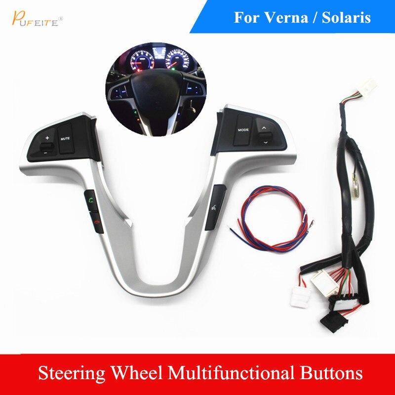 car multifunction steering wheel button For Hyundai VERNA SOLARIS Steering wheel audio volume music control button switch