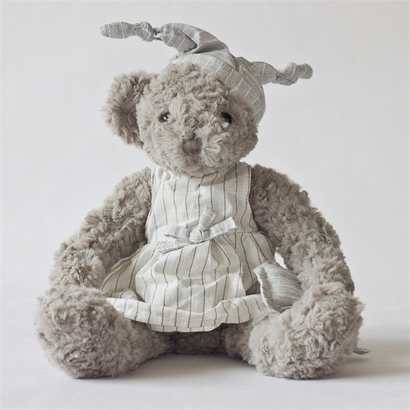Plush toy grey bear wear gery shirt lovely bear stuffed toys new design high quality size sit 21cm total 34cm fancytrader biggest in the world pluch bear toys real jumbo 134 340cm huge giant plush stuffed bear 2 sizes ft90451