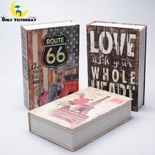 2016 Dictionnaire Livre Coffre-fort pour L'argent et Bijoux Grand Tirelire En Métal Banque Le Code Secret Coffre-fort