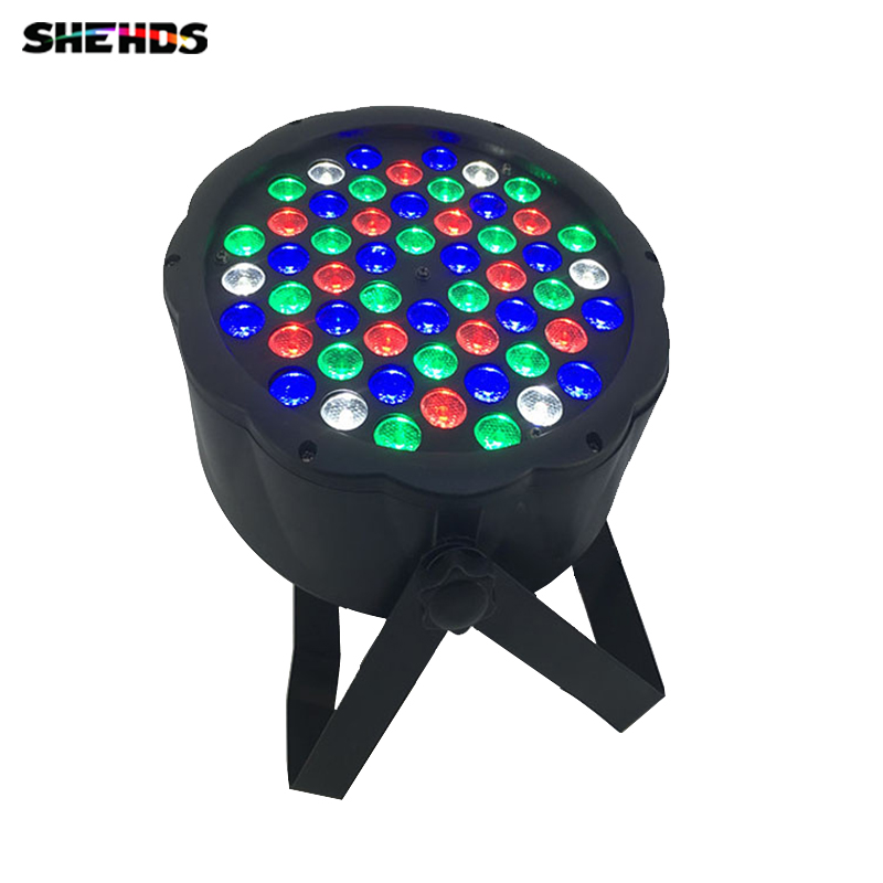 Fast Shipping LED 54x3W RGBW LED Flat Par RGBW Color Mixing DJ Wash Light Stage Uplighting KTV Disco DJ DMX512 free shipping 54x3w flat led par light rgbw best quality par can dmx512 disco dj home party ktv led stage effect projector