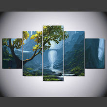 5 piece canvas art new Fantasy Nature Brook on canvas Decoration for Home Prints Canvas Painting Wall Art