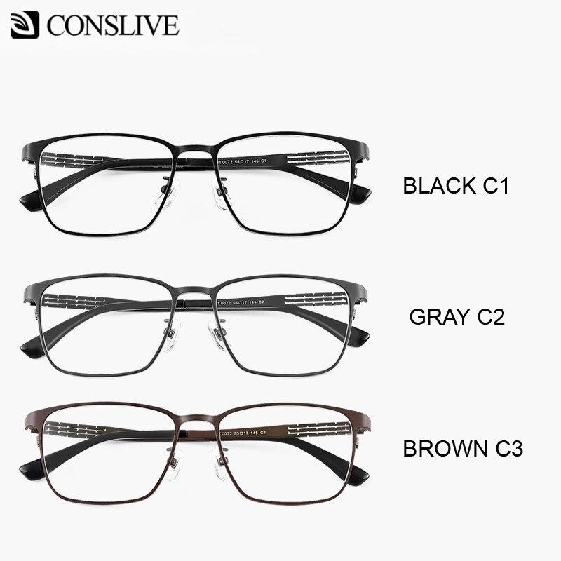 Hommes lunettes de Prescription correcteurs lunettes dioptriques titane optique monture des yeux lunettes multifocales progressives HT0072 - 6