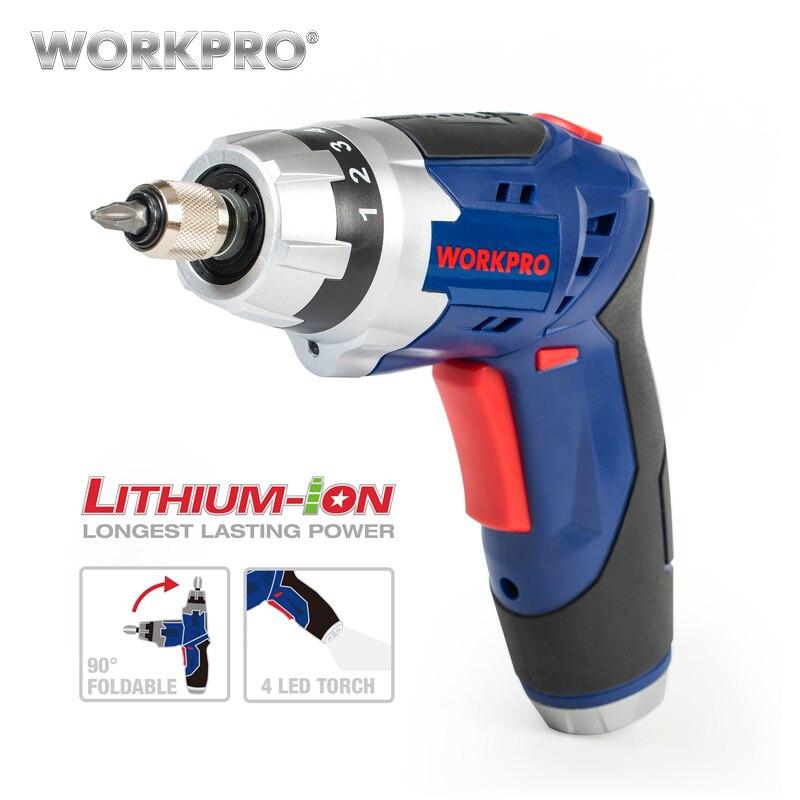 WORKPRO 3.6 v Cordless Cacciavite Elettrico Per Uso Domestico batteria Ricaricabile Cacciavite con Luce di Lavoro