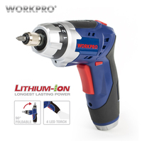 WORKPRO 3 6V Cordless Screwdriver With Work Light Lithium Battery Rechargeable Electric Screwdriver With Bits