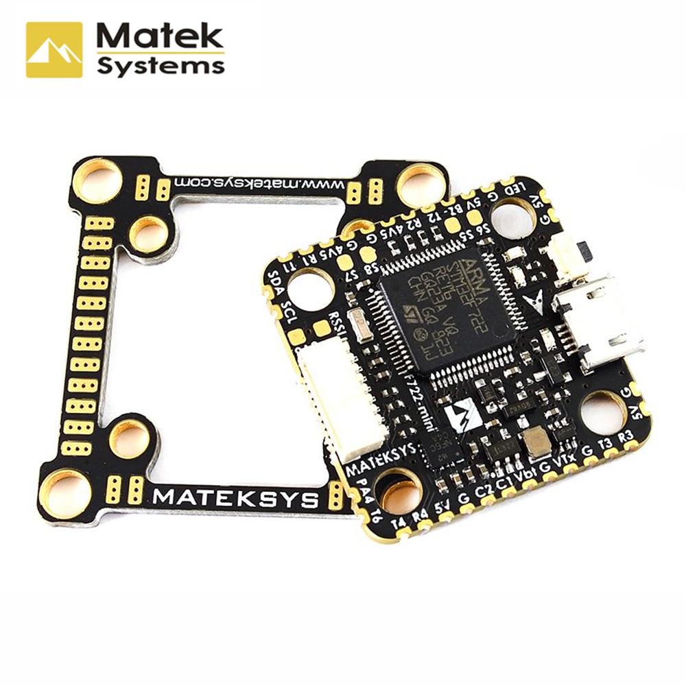Matek Systems F722 Mini OSD Dual Gyro Acc 32M Flash 5V 2A BEC Flight Controller for
