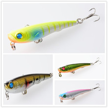 9 pcs HOT Perch lure Pencil fishing lures Artificial plastic hard bait Top water Wobbler fishing tackle 7cm-6.7g (PE007)