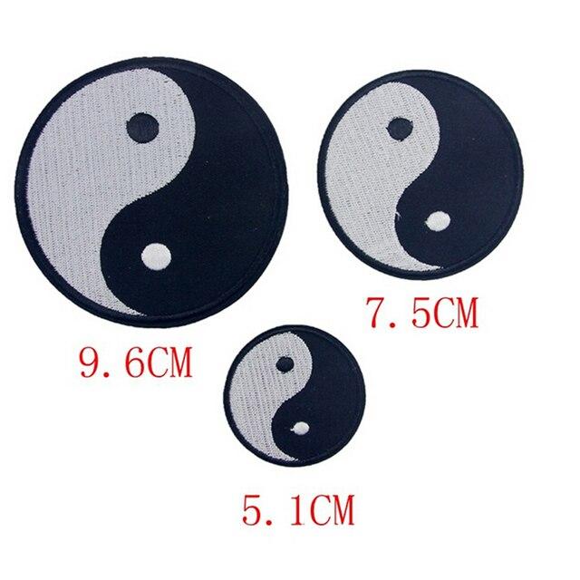 1pc Tai Chinese Taoism Classic Feng Shui Yin Yang Symbol Applique