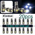 Taitian 20PCS Super White T10 W5W Canbus 5SMD 5050 Side Wedge Car LED Bulbs192 194 168 258