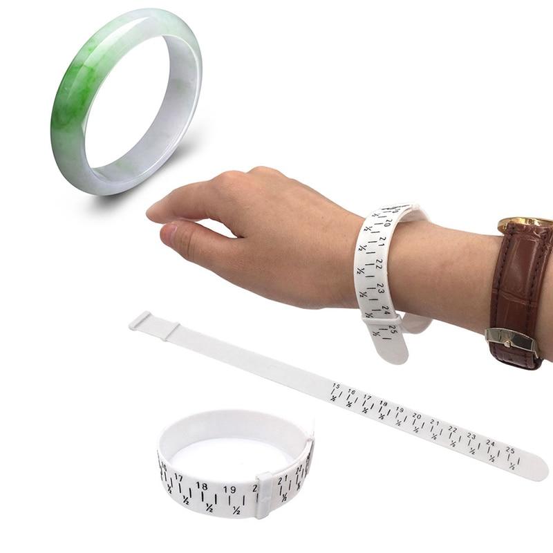 Plastic Bracelet Ring Sizer Wristband Finger Measuring Tool Measure Finger Gauge Jewelry Making Tool