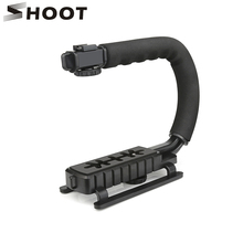 SHOOT C Shaped Holder Video Handheld Stabilizer Steadycam for DSLR Nikon Canon Sony Yi Gopro Camera Phone Steadycam Holder Grip