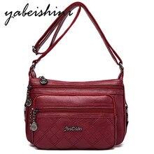 купить Fashion bags for women 2019 high quality Womens Pu Leather Handbags 3 zipper Shoulder bag Women Crossbody Bag Lady essenger Bags по цене 1167.15 рублей