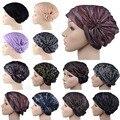 Moda bufanda musulmán mujeres Elástico Sombreros Tapas Hijab Islámico Musulmán Turbante Headwrap Capó Mujeres que Envían Libremente