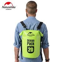 20L 30L Naturehike Swimming Waterproof Bags Storage Dry Sack Bag For Canoe Kayak Rafting Outdoor Sport BACKPACK Travel Kit