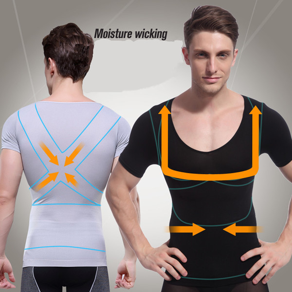 Men Absorbant Underwear Body Shaper Sweat Quicky Drying Slimming Tummy Belly Lose Weight Tank Tops Body Sculpting Undershirt