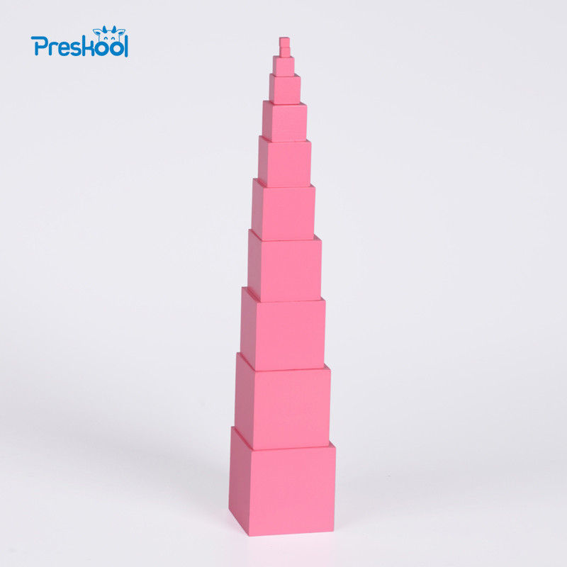 Montessori Family Version Pink Tower sin soporte 0.7 cm a 7 cm - Educación y entrenamiento - foto 1